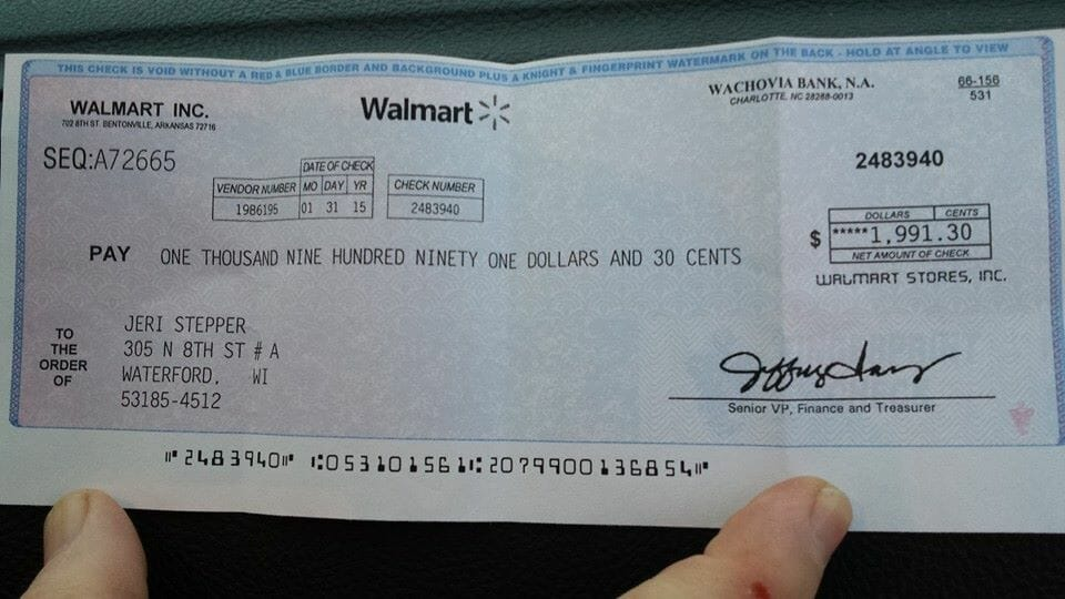 How to spot the Walmart check scam - a real example