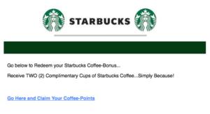Starbucks email scam