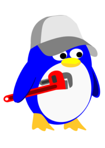 plumber penguin - garbage disposal