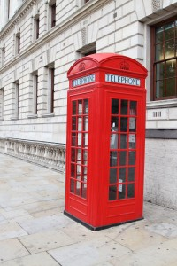 petr kratochvil. traditional red telephone booth in London