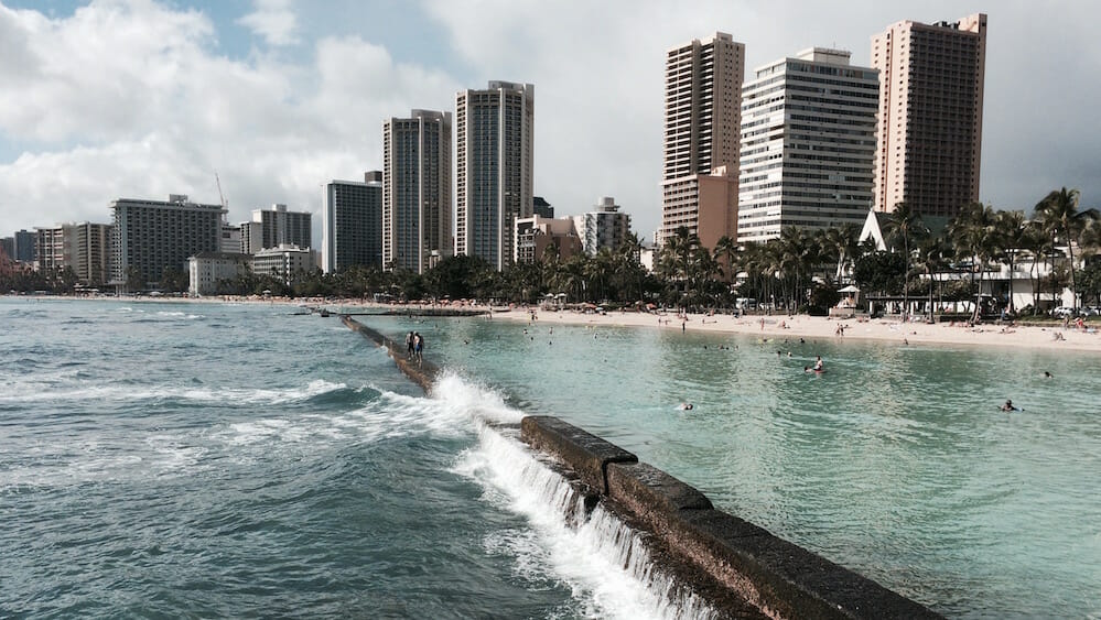 Friday Fotos – from the Waikiki Wall in Honolulu