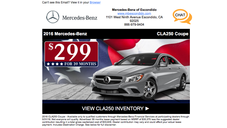 The new cars are here email scam