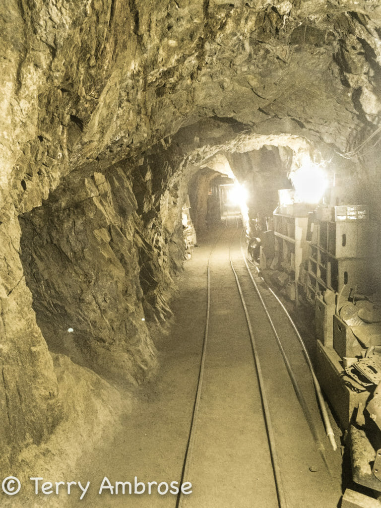 Looking back to the entrance of a Julian CA mine shaft.