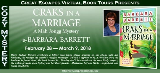 Craks in a Marriage - Barbara Barrrett - Guest Post - Terry