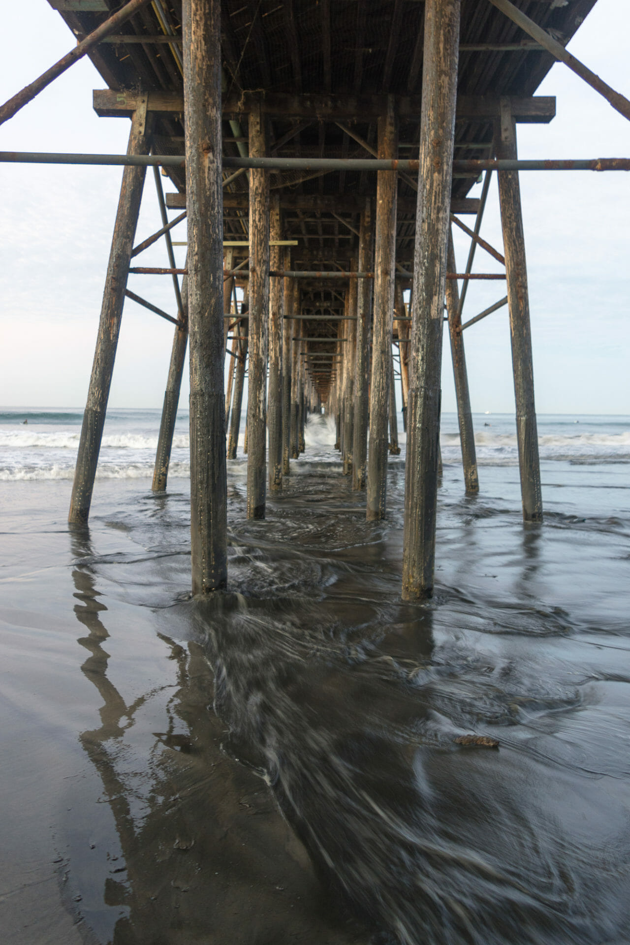 Beneath Oceanside Pier