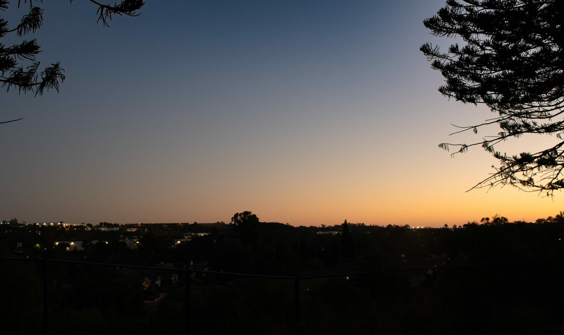 Celebration of light – Vista Shadowridge Park sunset