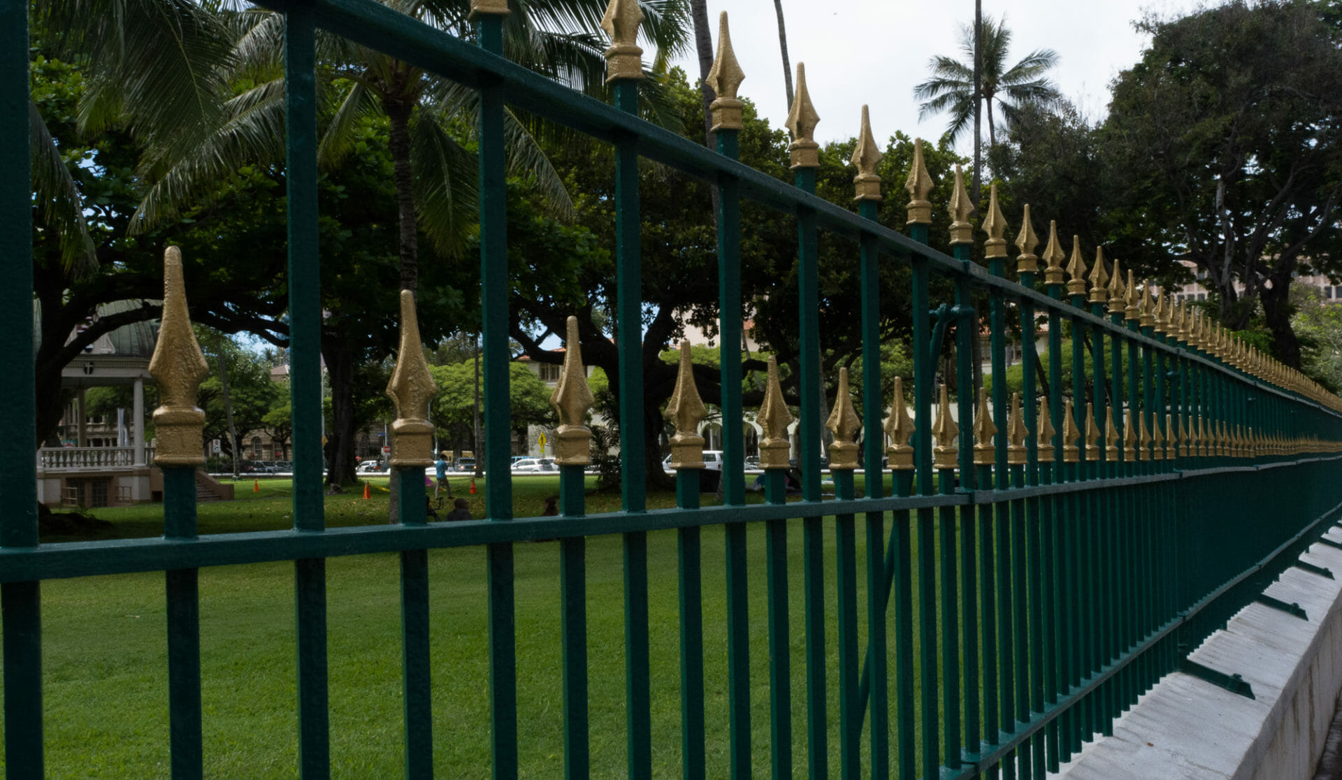 Fence at 'Iolani Palace in Honolulu
