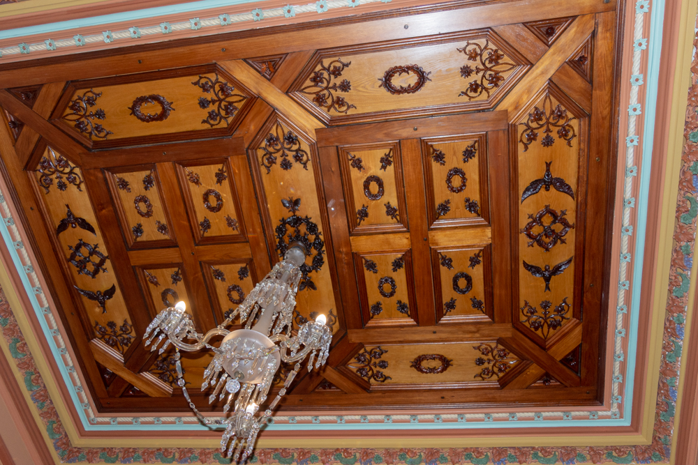 Larnach Castle ceiling