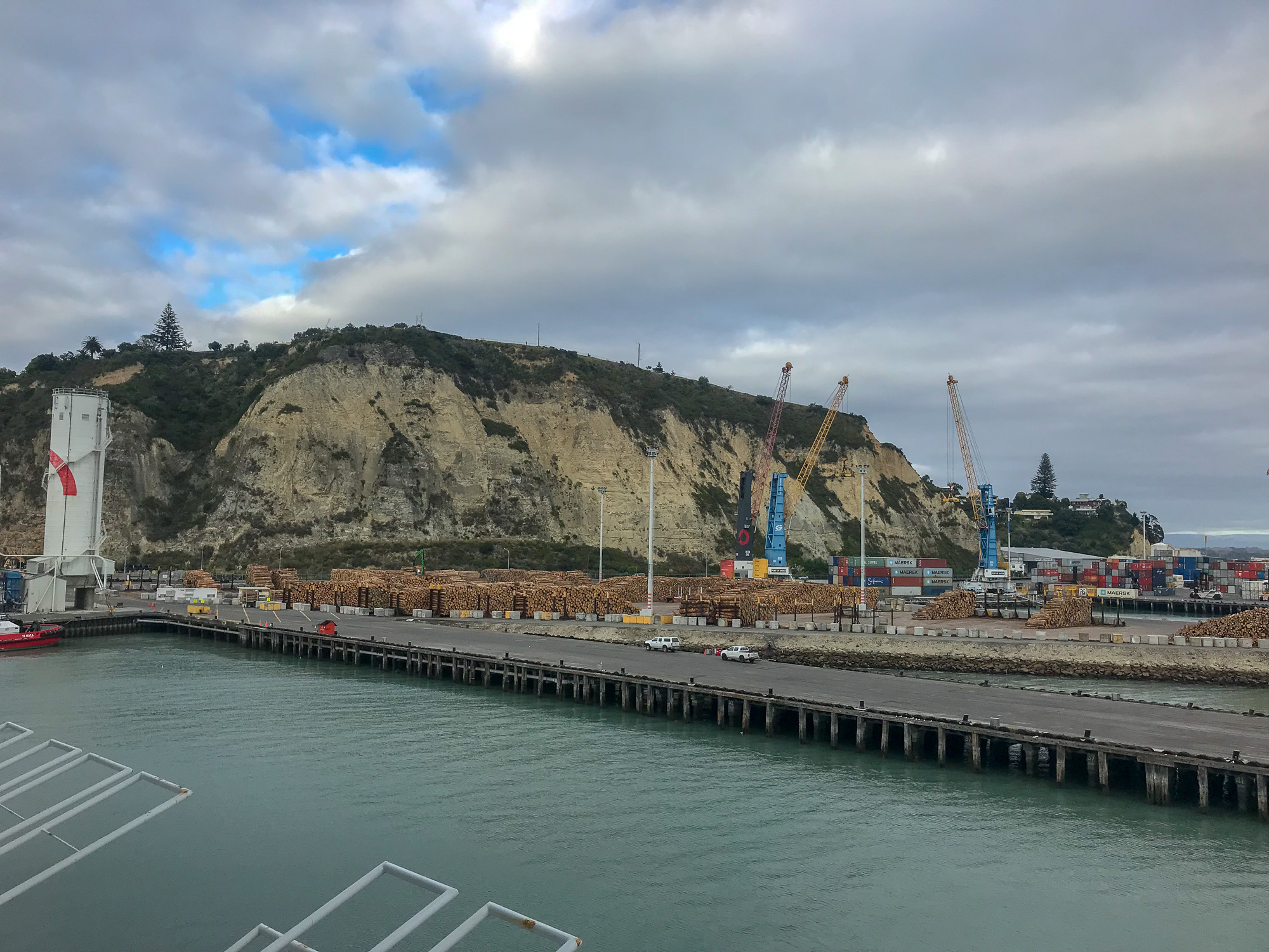 Napier shipping yard with lots of California pine