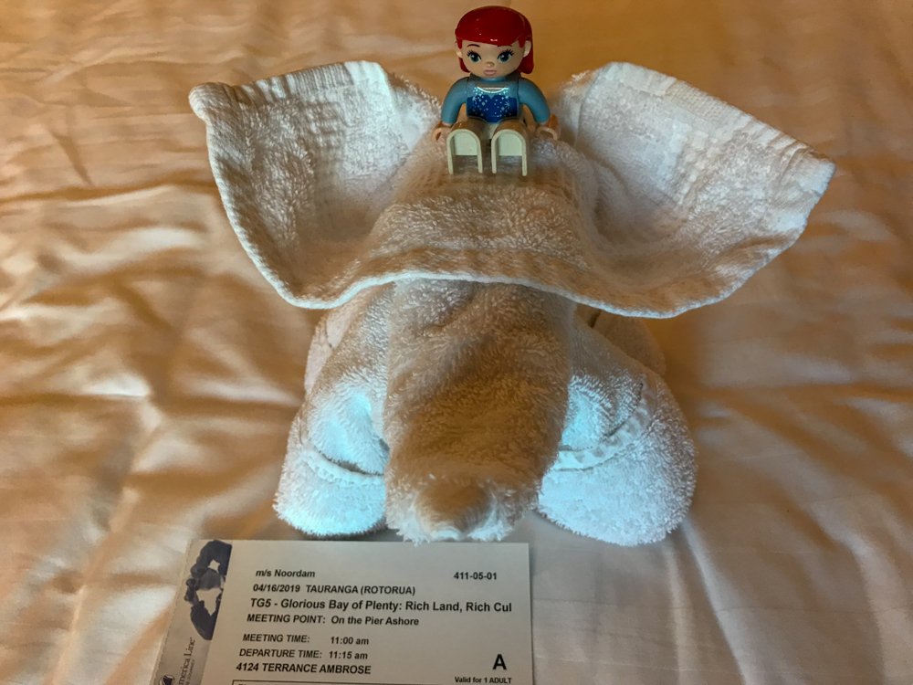 Ariel riding the elephant