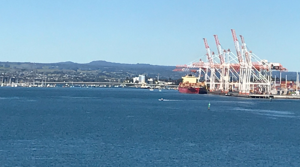 Tauranga is a shipping port