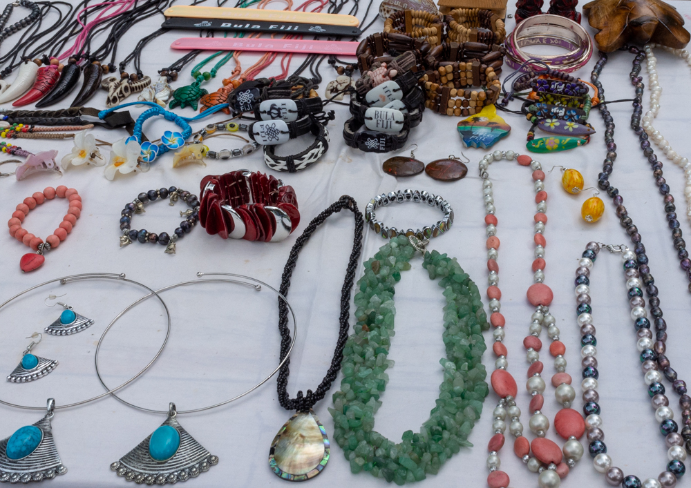 Some of the jewelry being sold at the pop-up market
