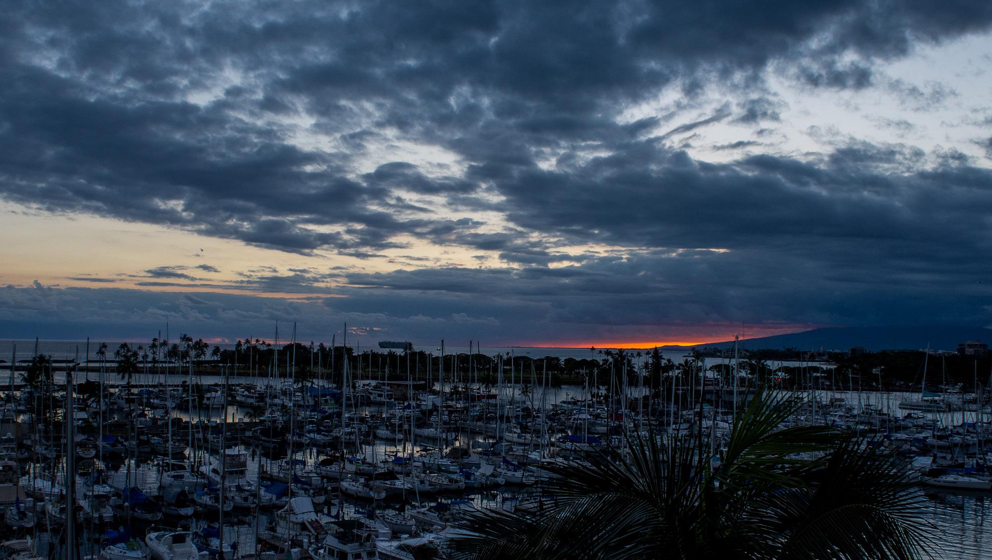 Honolulu Harbor sunset