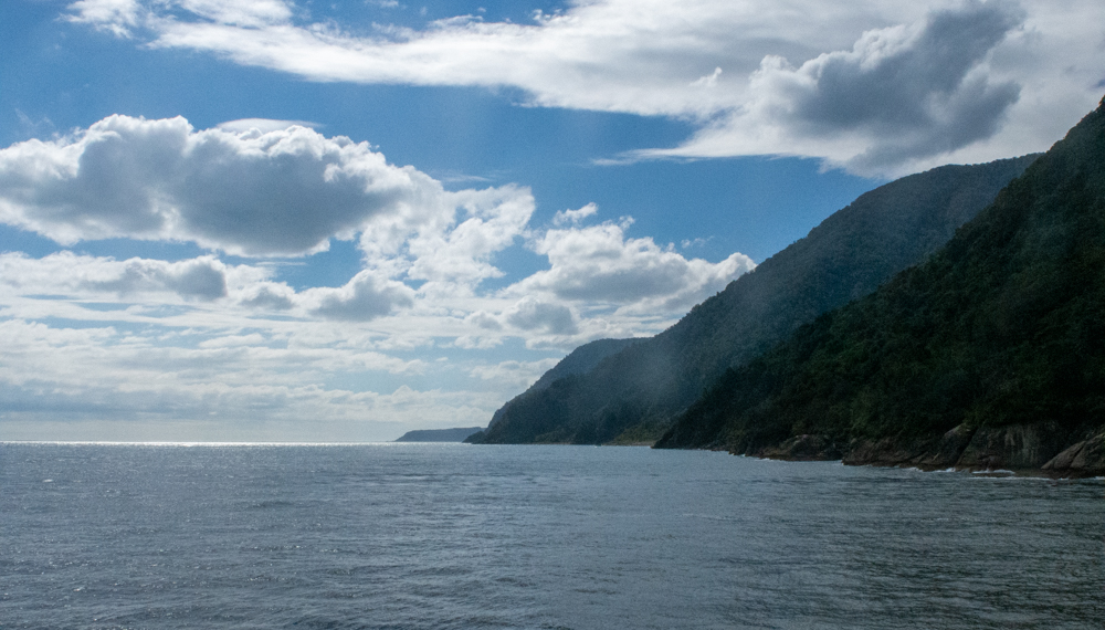 Milford Sound - the Tasman Sea just beyond
