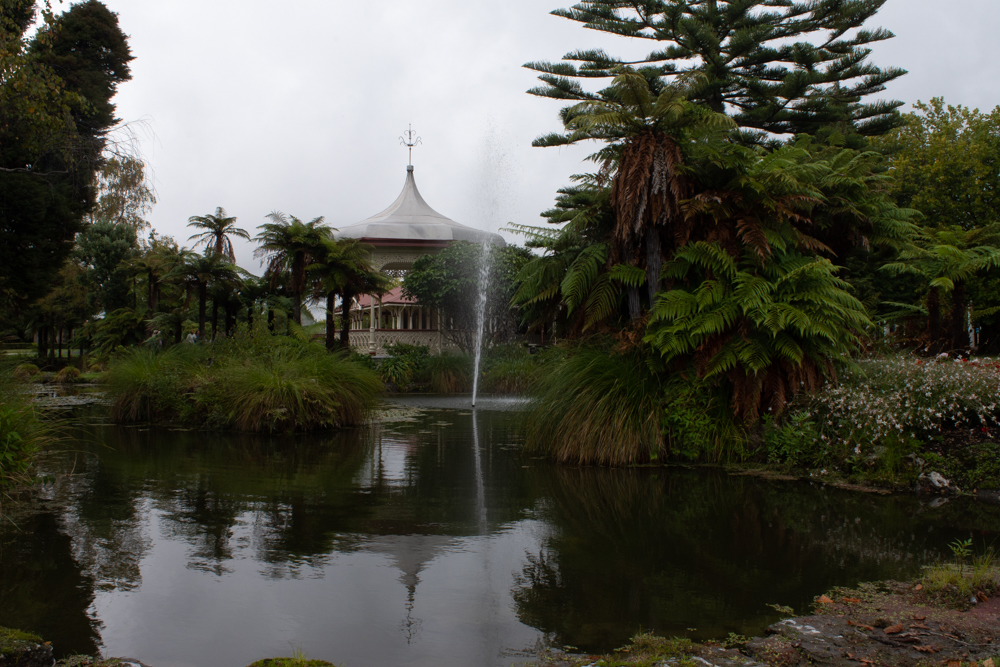 Beautiful gazebo near Government Gardens in Rotorua.