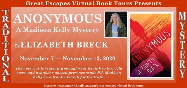 Anonymous by Elizabeth Breck tour graphic