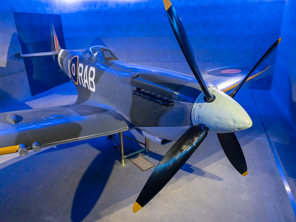 Spitfire airplane inside Auckland War Memorial