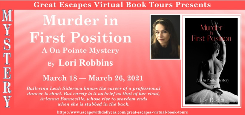 Tour graphic for Murder in First Position by Lori Robbins