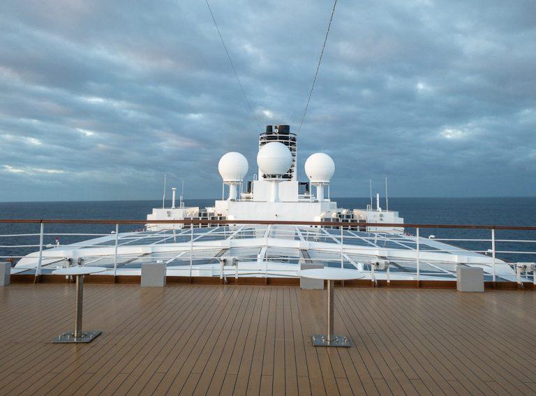 Top deck of the MS Noordam