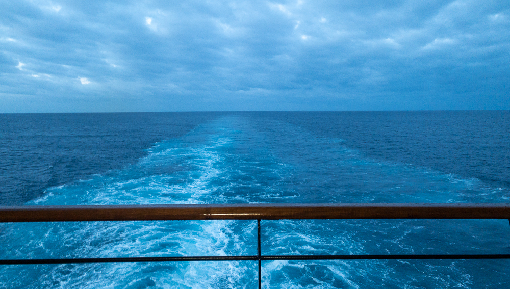Looking aft from the passenger deck the MS Noordam