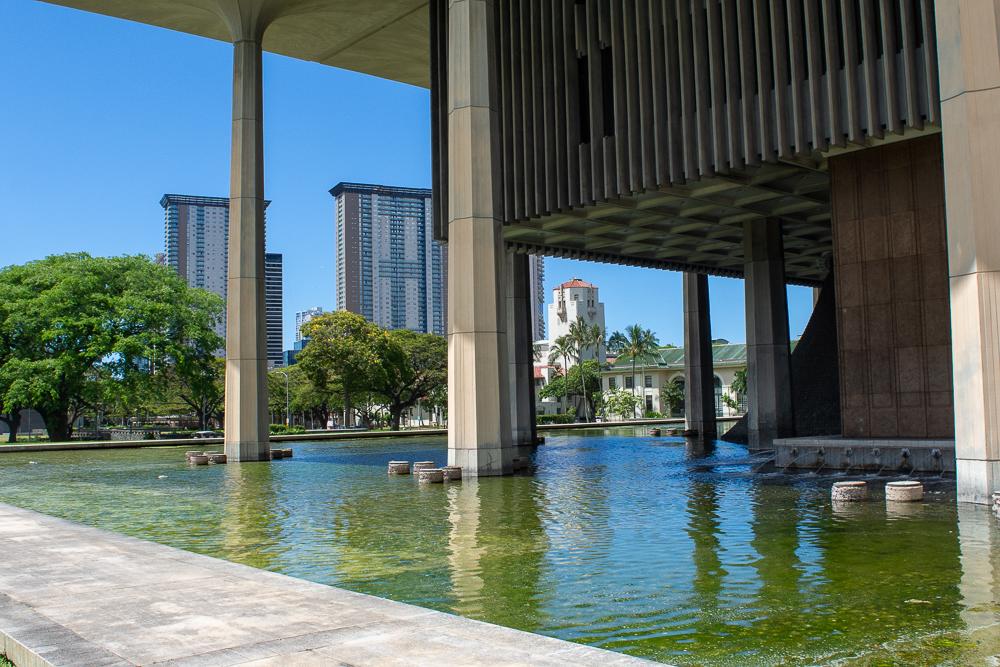 Hawaii State Capitol pools